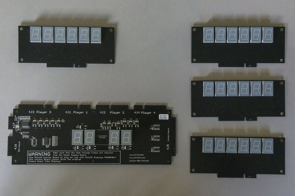 4x6 stelliges numerisches 1x4 stelliges numerisches Display